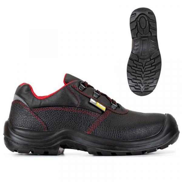 Pantofi de protectie cu bombeu compozit, piele naturala 1