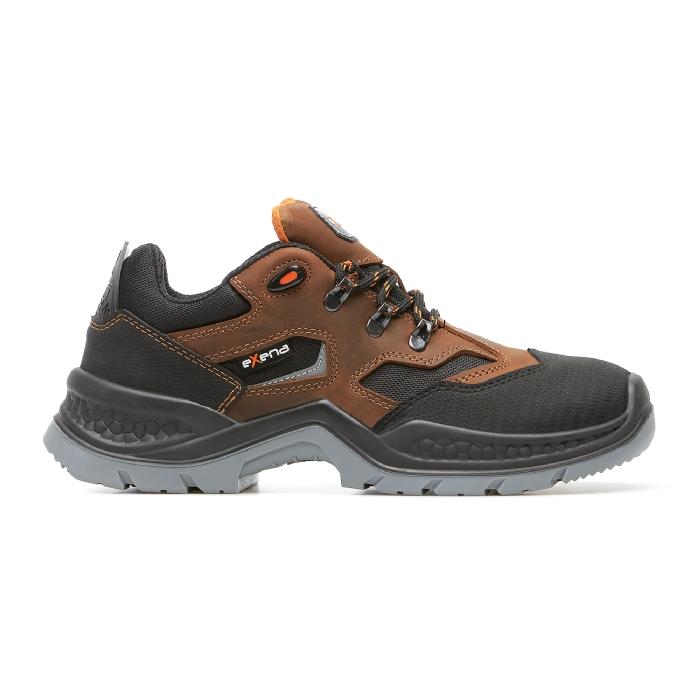 Pantofi de protectie cu bombeu compozit, piele naturala [0]