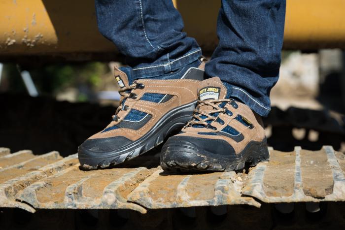 Pantofi de protectie cu bombeu compozit, piele naturala 3