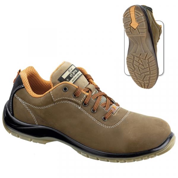 Pantofi din piele naturala cu bombeu 0