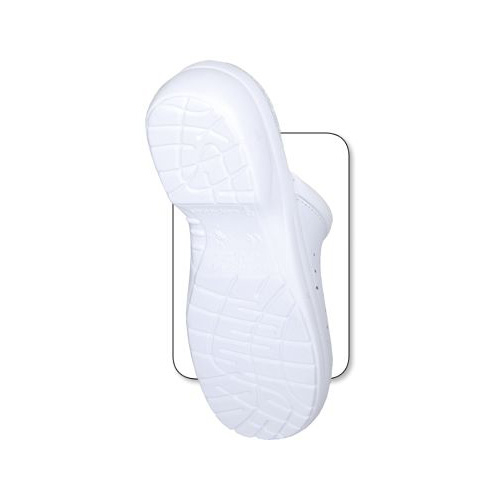 Saboti de protectie albi din piele naturala 2