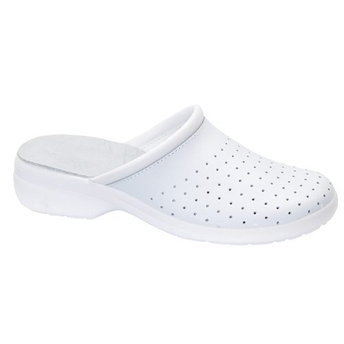 Saboti de protectie albi din piele naturala 0
