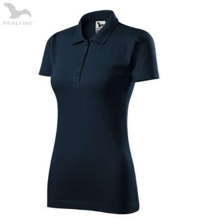 Tricou polo de dama, Single J, albastru inchis [0]