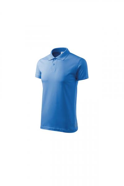 Tricou polo pentru barbati Single J, albastru marin 3