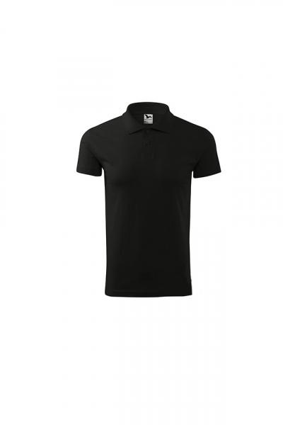 Tricou polo pentru barbati Single J, nuanta black 0