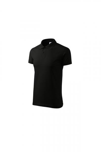 Tricou polo pentru barbati Single J, nuanta black 2