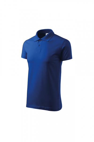 Tricou polo Single J, albastru royal [1]