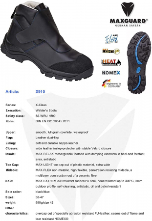 Pantofi protectie Max Guard x9101