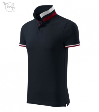 Tricou Polo pentru barbati Collar Up albastru inchis [1]