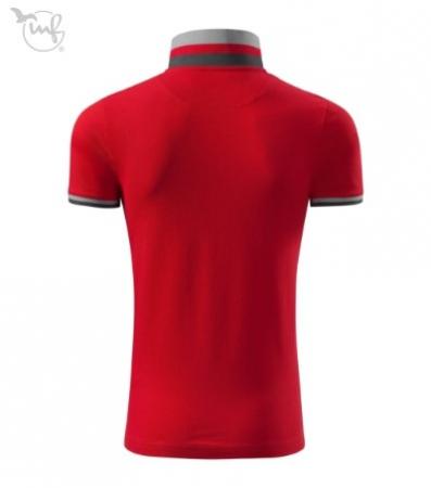 Tricou Polo pentru barbati Collar Up rosu [2]