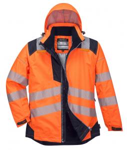 Jacheta reflectorizanta pentru sezon rece Vision portocalie4