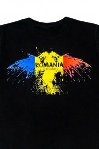 Tricou imprimat Romania, nuanta neagra1
