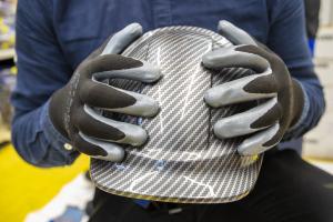 Casca de protectie Endurance, carcasa ABS, nuanta gri carbon4