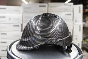 Casca de protectie Endurance, carcasa ABS, nuanta gri carbon2