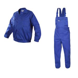 Costum de lucru Artmas blue, pantaloni cu pieptar si jacheta [0]