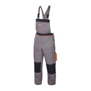 Costum protectie Artmas, jacheta si pantaloni cu pieptar, gri2