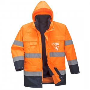 Jacheta impermeabila 3 in 1, reflectorizanta Lite Orange1