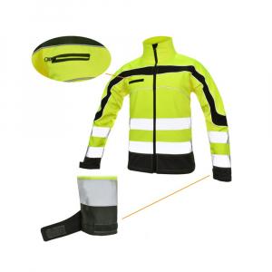 Jacheta reflectorizanta din softshell  Softflex, impermeabilitate ridicata1