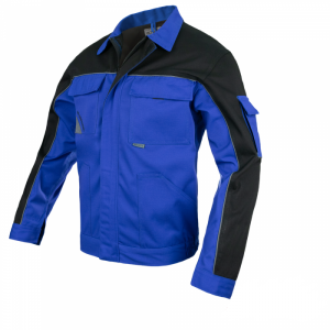Jacheta de lucru din tercot, Professional, combinatie albastru+negru, 54/L-XL