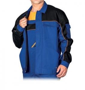 Jacheta de lucru din tercot, Professional, combinatie albastru+negru2