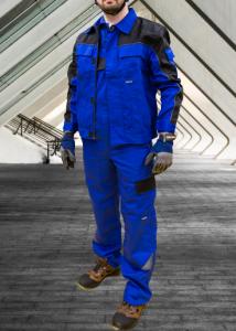 Jacheta de lucru din tercot, Professional, combinatie albastru+negru3