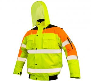 Jacheta de lucru Flash Yellow, insertii reflectorizante, rezistenta la apa0