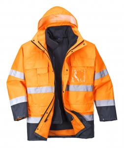 Jacheta impermeabila 3 in 1, reflectorizanta Lite Orange0