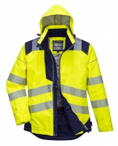 Jacheta reflectorizanta pentru sezon rece Vision galbena2