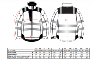 Jacheta reflectorizanta pentru sezon rece Vision galbena8