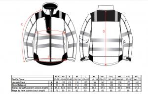 Jacheta reflectorizanta pentru sezon rece Vision portocalie7
