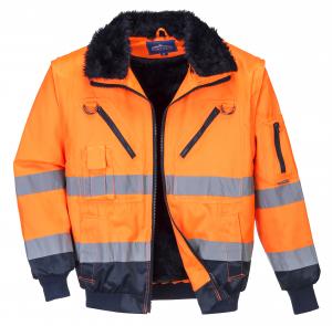 Jacheta sezon rece PJ50 Orange, elemente reflectorizante1