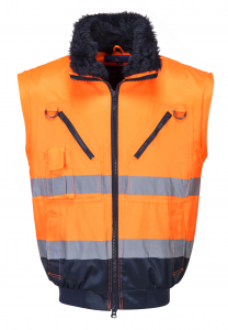 Jacheta sezon rece PJ50 Orange, elemente reflectorizante2