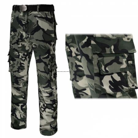 Pantaloni cum imprimeu camuflaj Tramp1