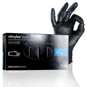 Manusi de examinare din nitrylex, nuanta neagra, cutie 100 bucati, marimea M1