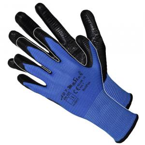 Manusi de protectie RnitPas blue, strat rezistent din nitril
