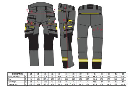 Pantaloni de lucru Holster DX4405