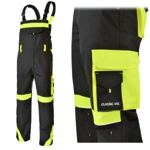 Pantaloni cu pieptar Class Vis, insertii reflectorizante, multiple buzunare2