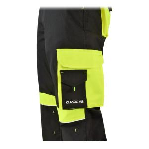 Pantaloni cu pieptar Class Vis, insertii reflectorizante, multiple buzunare1