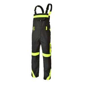 Pantaloni cu pieptar Class Vis, insertii reflectorizante, multiple buzunare0