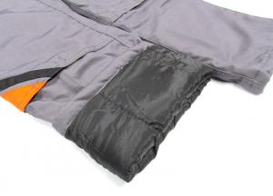 Pantaloni cu pieptar pentru iarna, Professional gri1