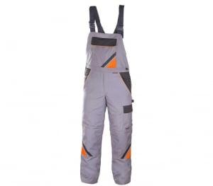 Pantaloni cu pieptar pentru iarna, Professional gri, marimea 461