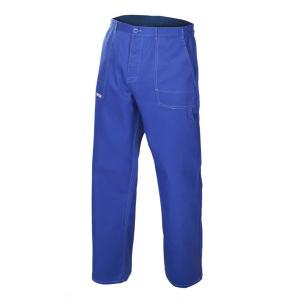 Pantaloni de lucru Comfort Blue, material tercot rezistent0