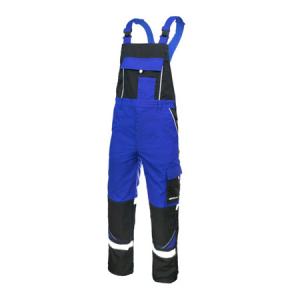 Pantaloni protectie cu pieptar, ProfRef blue, insertii reflectorizante0