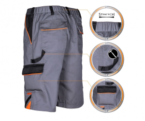 Pantaloni scurti de lucru Professional, material tercot, rezistenta la rupere1