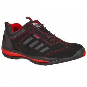 Adidasi Protectie cu bombeu metalic, Steelite™ Lusum S1P HRO, rosu-negru0