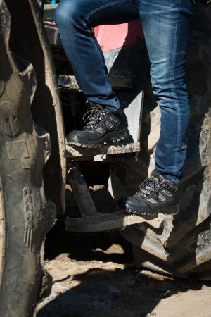 Pantofi de protectie cu bombeu compozit, piele naturala [3]