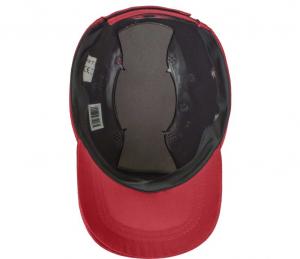 Sapca cu sistem protectie inclus, BumpCap, nuanta rosie, marime reglabila1
