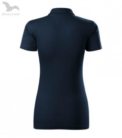Tricou polo de dama, Single J, albastru inchis [2]