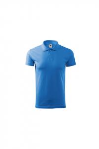 Tricou polo pentru barbati Single J, albastru marin0