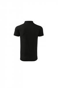Tricou polo pentru barbati Single J, nuanta black1